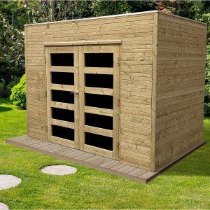 Solid Abri de jardin en bois traité autoclave Capri 5,4 m²