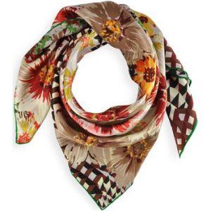 Allée du foulard Carré de soie Premium Mosaique florale