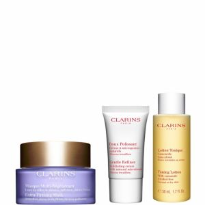 Clarins Coffret Masque Multi-Régénérant, Doux polissant et Lotion Tonique Camomille
