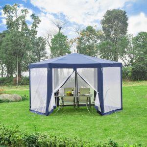 Outsunny Tente de réception hexagonale imperméabilisé