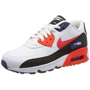 Nike Baskets Air Max 90 Noir-Rouge-Blanc - Taille 36;37 1/2;38;39;40