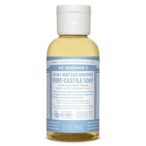 Dr Bronner's Savon liquide bébé sans parfum 59 ml