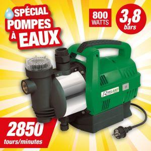 Ribiland Pompe à eau de surface carénée Jet automatique 800 W 3.8 bars Ribimex