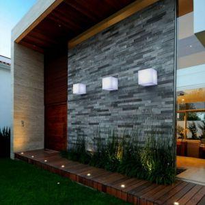 New Garden CUBY-Applique d'extérieur Cube Polyéthylène L20cm Blanc