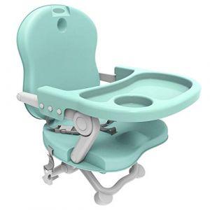 Todeco Rehausseur Bébé, Réhausseur de chaise pour enfant - Hauteur: 38/42/46/50 cm - Matériau: PP - Vert