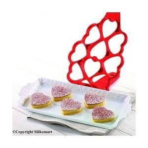 Silikomart Moule à pancakes coeurs en silicone