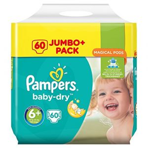 Pampers Couches Baby-Dry Taille 6+ 60 couches