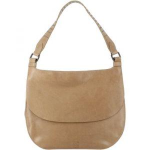 Dudu Sac pour femme porté Epaule Hivernal en cuir véritable sac Hobo souple avec Clous et fermeture à bouton magnétique Beige