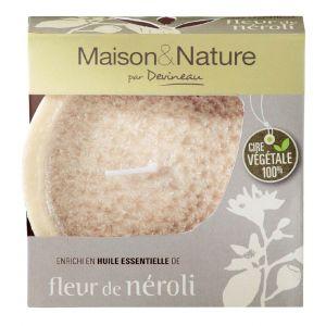 Devineau Fleur de Neroli - Bougie déco évasée parfumée aux huiles essentielles