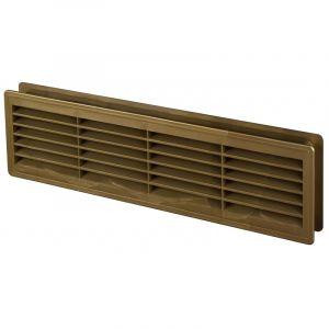 Awenta 120x440mm porte intérieure en plastique ventilation grille d'aération collier patine couleur