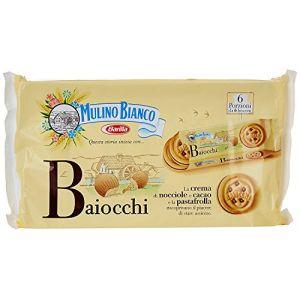 Barilla Mulino Bianco Baiocchi Nocciola Biscuits Fourrés aux Noisettes et Cacao 336 g