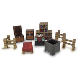 Jazwares Minecraft Papercraft : Pack ustensiles