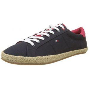 Tommy Hilfiger Textile Lace Up Espadrille, Sneakers Basses Homme, Bleu (Midnight 403), 42 EU