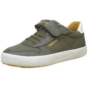 Geox J Alonisso G, Sneakers Basses Garçon, Vert (Military), 35 EU