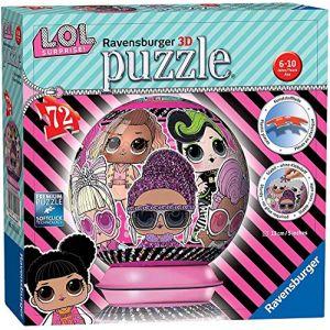 Ravensburger Puzzle 3d ball 72 pièces - lol surprise