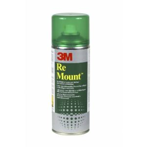 3M Colle en aerosol repositionnable Remount 400 ml
