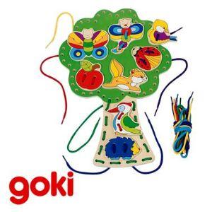 Goki 58945 - Arbre à enfiler avec lacets