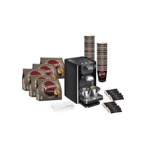 Saeco Machine expresso Senseo Quadrante 1,2 L noire + Kit réassort Senseo - Pack