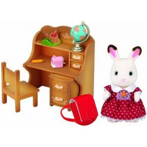 Epoch Sylvanian Families 5016 - Lapin en chocolat Soeur et accessories