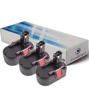 Visiodirect Lot de 3 batteries pour PST 14.4V scie sauteuse 3000mah 14.4V