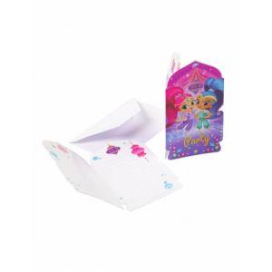 8 invitations et enveloppes Shimmer & Shine
