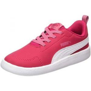 Puma Courtflex Inf, Sneakers Basses Mixte Enfant, Rose (Love Potion-White), 27 EU