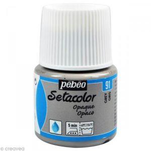 Pebeo Peinture tissu Setacolor - Opaque - Gris - 45 ml