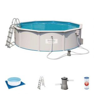 Bestway Kit Piscine Ronde Steel Wall Pool D460cm h 120cm