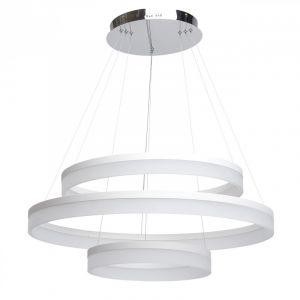 """Image de Regenbogen Lampe Suspension Métal Design """"Hopi 3"""" 150cm Blanc"""