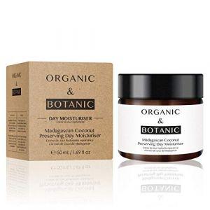 Organic & Botanic Crème de jour hydratante réparatrice - Noix de coco de Madagascar - 50 ml