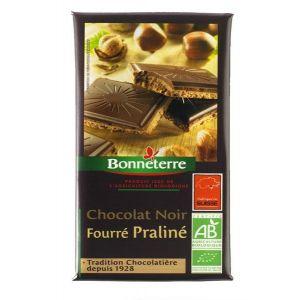 Bonneterre Chocolat Noir Fourré Praline 100g