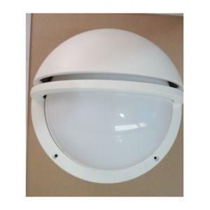 Prisma Hublot extérieur blanc Ø 241mm avec grille pour lampe fluo 2X10W G24q-1 (non incl) ballast elec IP66 IK10 EKO+21 3021335