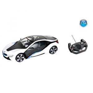 Mondo Motors Voiture télécommandée BMW I8 1:14 Blanche