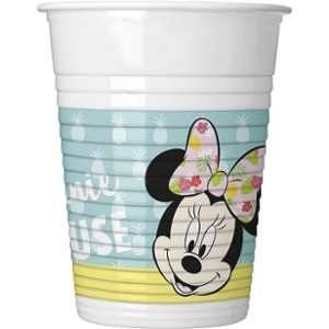8 Gobelets en plastique Minnie Tropical 200 ml