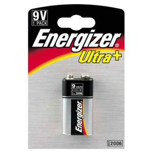 Energizer 1 pile alcaline 6LR61 9V Ultra +