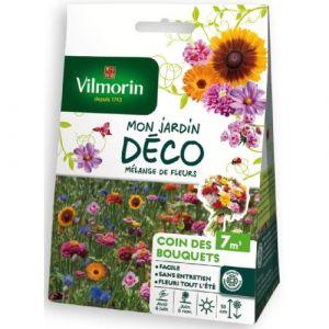 Vilmorin Mélange graines de fleurs COIN DES BOUQUETS - 7 m² - Donne de belles fleurs aux coloris vifs - Permet de constituer de beaux bouquets tout au long de l'année.