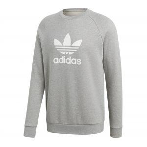 Adidas Sweatshirts -originals Trefoil Warm Up Crew - Medium Grey Heather - S