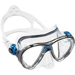 Cressi Masque de plongée Sous Marine pour Adulte - Big Eyes Evolution - Bleu (Transparent/Bleu) - Taille Unique