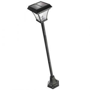 Solarline Lampadaire solaire H180cm - Blanc - Lampadaire solaire carré - En métal - Hauteur : 180cm - Coloris : noir.