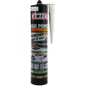 Emfi Mastic tout support à prise rapide High Power Turbo cartouche 300ml blanc