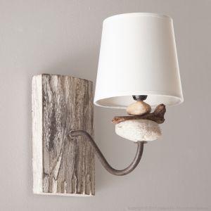 gallery of corep applique rio en bois flott et galets avec abatjour en coton with maison du. Black Bedroom Furniture Sets. Home Design Ideas