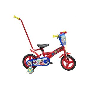 "Denver Bike SLR. Vélo enfant Mickey Mouse 10"" avec barre d'apprentissage"