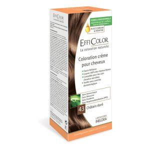 EffiColor Châtain Doré N°43 - Coloration crème pour cheveux