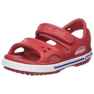 Crocs Crocband II Sandal Kids, Sandales Bout Ouvert Mixte Enfant, Rouge (Pepper/Blue Jean), 20-21 EU
