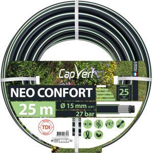 Cap Vert Tuyau d'arrosage Néo Confort - Diamètre 15 mm - Longueur 25 m