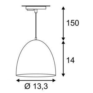 SLV HV 1 circuit track Para Cone 14 DM 143991 Blanc / or