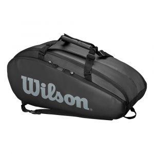 Wilson Sac de Tennis, Tour 2 Comp Large, Noir, Unisexe, Jusqu'à 9 Raquettes, WRZ849309