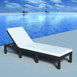 VidaXL Chaise longue en rotin synthétique 195 cm