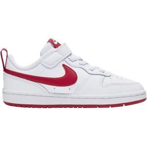 Nike Chaussures basses - Court borough low 2 v - Blanc/rouge Enfant 31