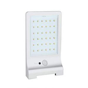 DIO Applique solaire plate avec détecteur de mouvement (330 Lm)- Blanc